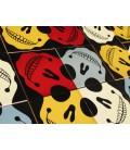 Décoration murale originale en céramique - têtes de mort en couleur