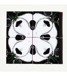 Mural original y único de cerámica- osos panda