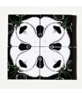 Décoration murale originale et décalée en céramique - pandas