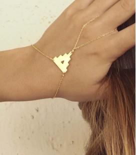 Bracelet de poignet et doigt au design contemporain et minimaliste Castell