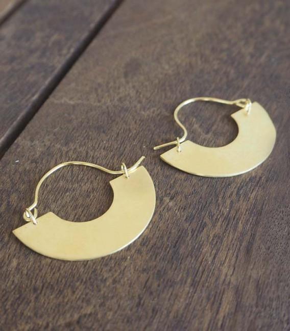 Boucle d'oreilles au design contemporain et minimaliste Disc