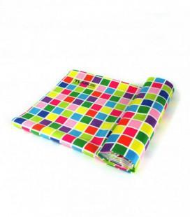 Serviette en microfibre au design original et coloré - géométrique 1