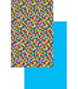 Serviette en microfibre au design original et coloré - géométrique 2