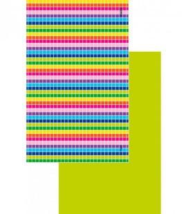 Toalla de microfibra de diseño original y colorido - geométrico 3