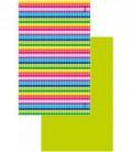 Serviette en microfibre au design original et coloré - géométrique 3