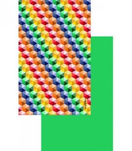 Serviette en microfibre au design original et coloré - cube 1