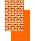 Serviette en microfibre au design original et coloré - cube 3