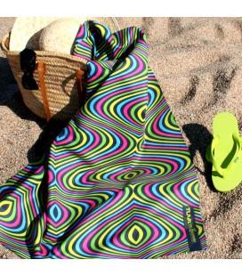 Toalla de microfibra de diseño original y colorido - ola 3
