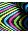 Serviette en microfibre au design original et coloré - vague 3