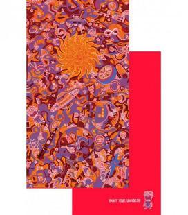 Serviette en microfibre au design original et coloré - cosmos 3