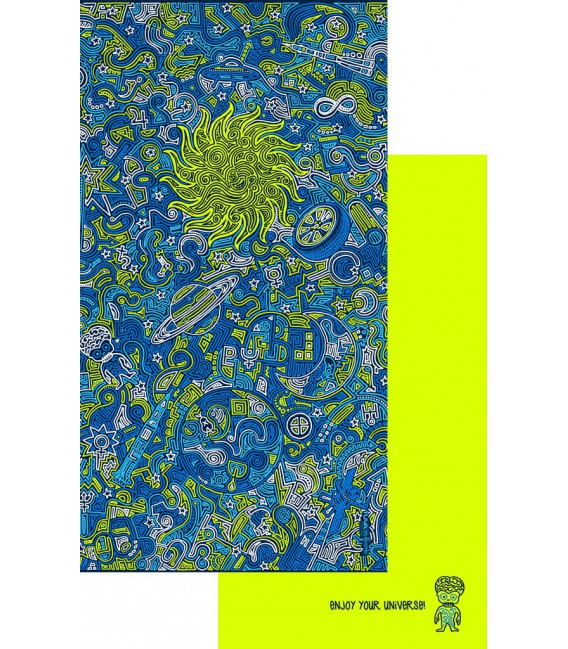 Serviette en microfibre au design original et coloré - cosmos 4