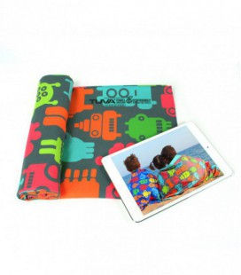Toalla de microfibra de diseño original y colorido - robots 2