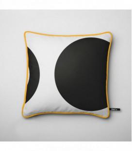 Cojín para una decoración de diseño: anillo y círculo negro - Trace A