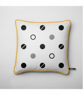 Cojín para una decoración de diseño: círculos negros - Trace B