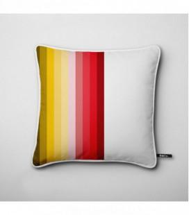 Cojín de diseño: líneas degradadas en rojo y amarillo - Hues G