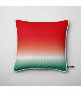 Coussin design : dégradé lumineux rouge, blanc, vert - Gradient A3