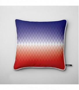 Coussin design : dégradé de losanges bleu,blanc, rouge - Gradient B1