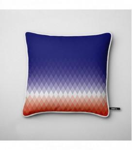Coussin design : dégradé de losanges bleu,blanc, rouge - Gradient B2