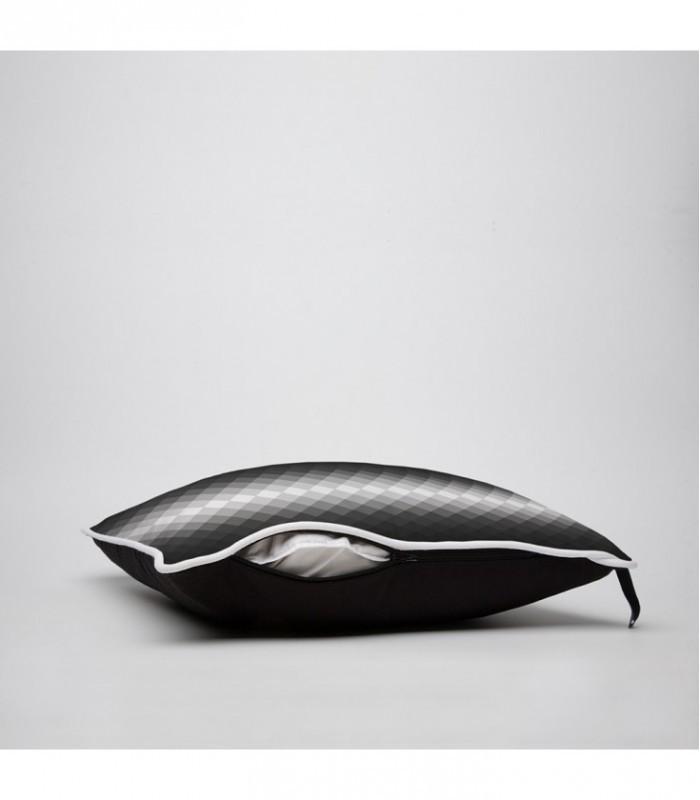 Coussin D Co Design D Grad Lumineux En Noir Et Blanc