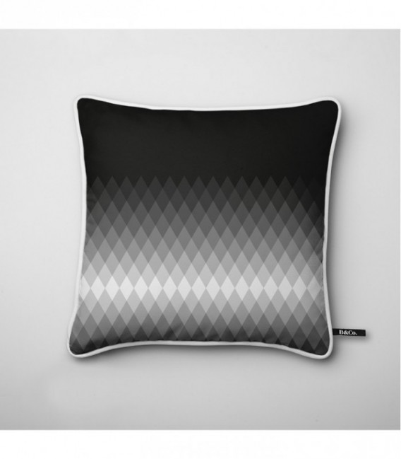 coussin d co design d grad lumineux en noir et blanc gradient d2 coolfidential. Black Bedroom Furniture Sets. Home Design Ideas