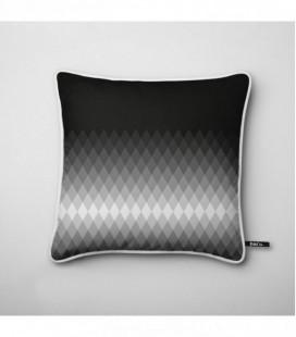 Coussin déco design : dégradé lumineux en noir et blanc - Gradient D2