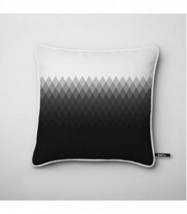 Coussin déco design : dégradé lumineux en noir et blanc - Gradient D3