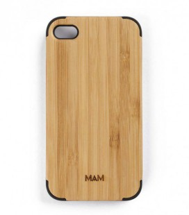 Carcasa original de madera para iPhone 4 - Diseño liso