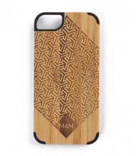 Carcasa original de madera para iPhone 5 - Diseño cruzado