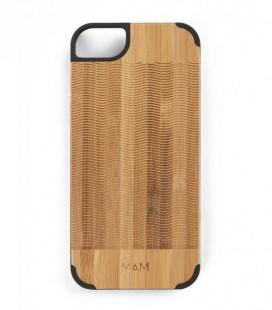 Carcasa original de madera para iPhone 5 - Diseño olas
