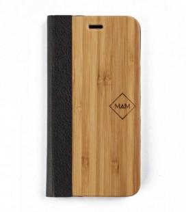 Carcasa original de madera para iPhone 5 - Diseño libro de bambú