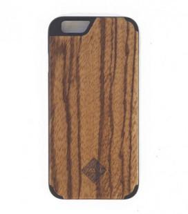 Carcasa original de madera para iPhone 6 - Diseño liso de zebrano