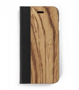 Carcasa original de madera para iPhone 6 - Diseño libro de zebrano