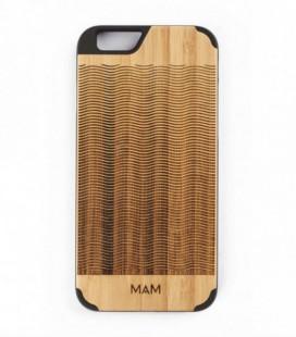 Coque originale en bois pour iPhone 6 - Design vagues