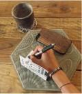 Coque originale en bois pour iPhone 6 - Design aztèque noyer