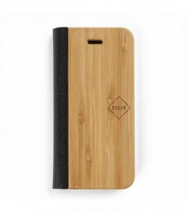 Coque originale en bois pour iPhone 6P et iPhone 7P - Design livre