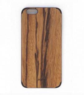 Coque originale en bois pour iPhone 6P - Design uni en zebrano