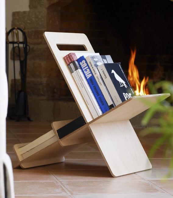 110 porte revue en bois porte revues en bois flotte d 39. Black Bedroom Furniture Sets. Home Design Ideas