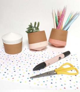 Pot de fleurs original en terre cuite - Nano