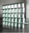 Librería modular en madera de abedúl - azul