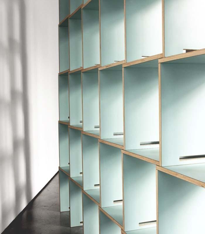 Librer a modular en madera de abed l azul coolfidential - Madera de abedul ...
