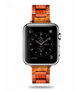 Bracelet de montre en bois pour Apple Watch 38 mm et 42 mm