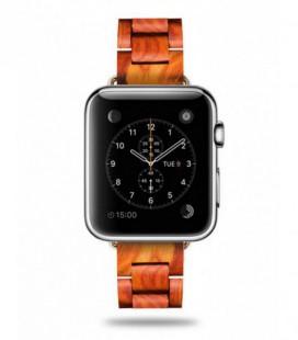 Correa de reloj de madera para Apple Watch - Bambú o sándalo rojo