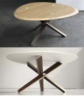 Table basse réversible de design en bois de bouleau