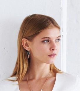 Boucles d'oreilles créoles ethniques pour femme DOUBLE ARC