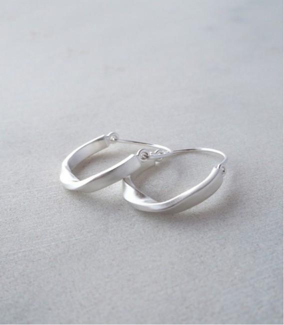 Boucles d'oreilles de création contemporaine pour femme TWIST