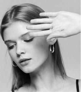 Boucles d'oreilles au design moderne et original pour femme CURVE