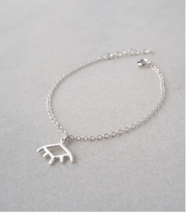 Bracelet en argent au design minimaliste et original pour femme EYE