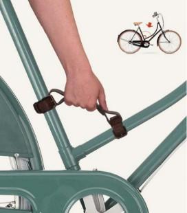 Poignée porte vélo universelle en cuir