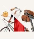 Pack sonnette, poignées en liège et trousse à outils rétro pour vélo