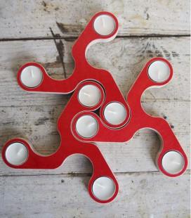 Candelabro de diseño para velas de te Tesela